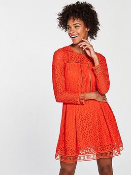 armani-exchange-vestito-lace-dress-spritznbsporangey-rednbsp