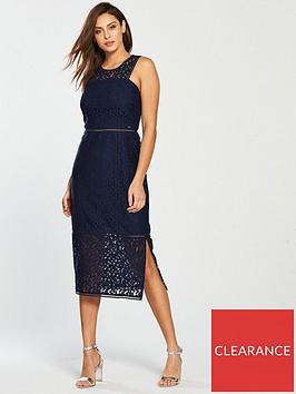 armani-exchange-vestito-lace-midi-dress-blue-angelnbsp