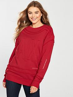 armani-exchange-felpa-embossed-sweatshirt-red