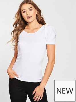 armani-exchange-maglia-jersey-top-with-frill-sleeve-white