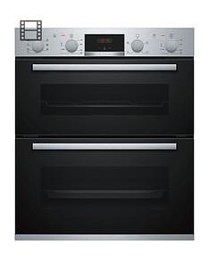 bosch-serienbsp4-nbs533bs0b-built-under-electric-double-ovennbspwithnbsp3d-hotair-stainless-steel