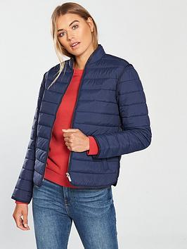 Lacoste Blouson Short Padded High Neck Jacket - Navy Blue