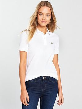 Lacoste Lacoste Short Sleeve Ribbed Polo Shirt - Regular