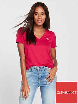 lacoste-v-neck-t-shirt-red