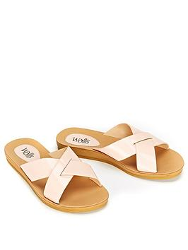 wallis-sia-flat-sandal-pink-patent