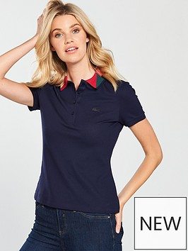 lacoste-short-sleeved-polo-top-withnbspgeometric-collar-navy-bluenbsp
