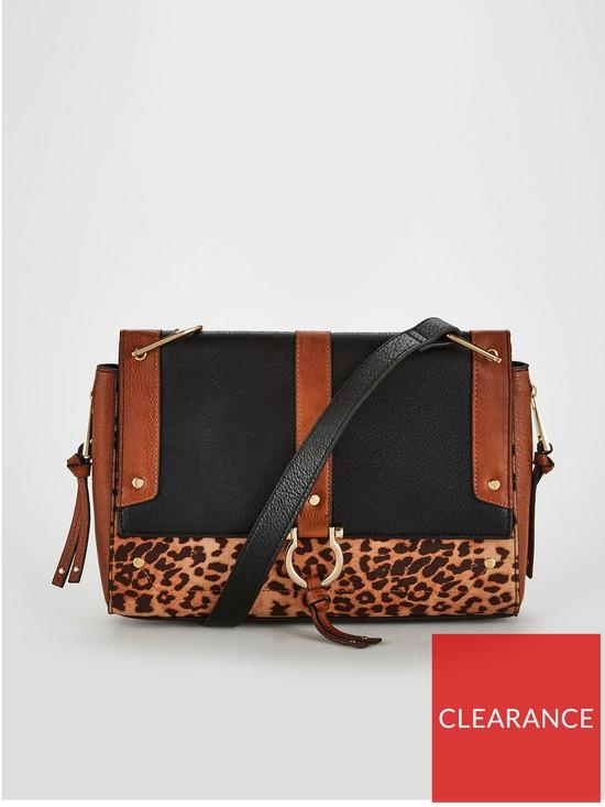 b586749d77 V by Very Pru Zip Detail Cross Body Bag - Leopard Print