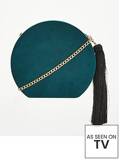 v-by-very-pandora-hard-box-tassel-cross-body-bag-green