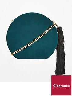 v-by-very-pandora-hard-box-tassel-cross-body-bag-green