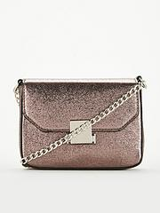66e4779e2cadbf V by Very Pixie Metallic Boxy Bag - Pewter