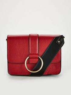 v-by-very-jessie-ring-detail-colour-block-bag-red