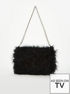 v-by-very-jamila-feather-bag-black