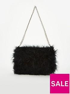 ca6f2a304e V by Very Jamila Feather Bag - Black