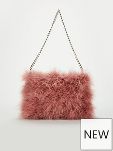 v-by-very-jamila-feather-bag-pink