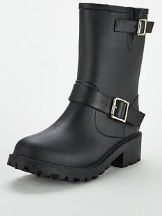 d554ab904009 V by Very Jade Biker Wellie - Black