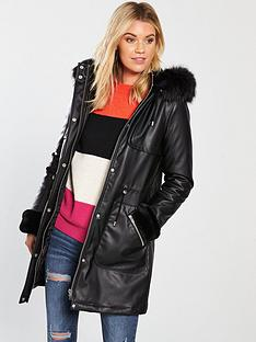 v-by-very-pu-parka-with-cuff-detail-black