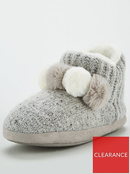 v-by-very-wilma-pom-pom-knit-slipper-boot-grey