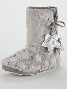 v-by-very-wonder-star-print-slipper-boot-grey
