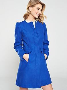 v-by-very-bow-detail-collarless-coat-cobalt-bluenbsp