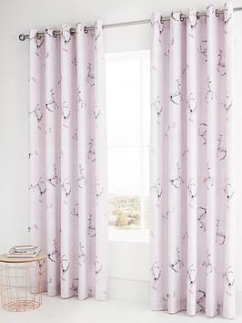 catherine-lansfield-enchanted-unicorn-eyelet-curtains