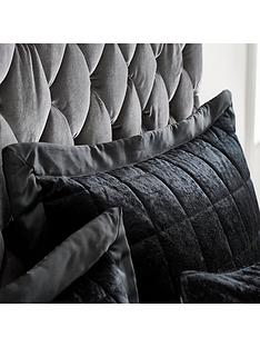 catherine-lansfield-crushed-velvet-pillowsham-pair-ndash-midnight-black