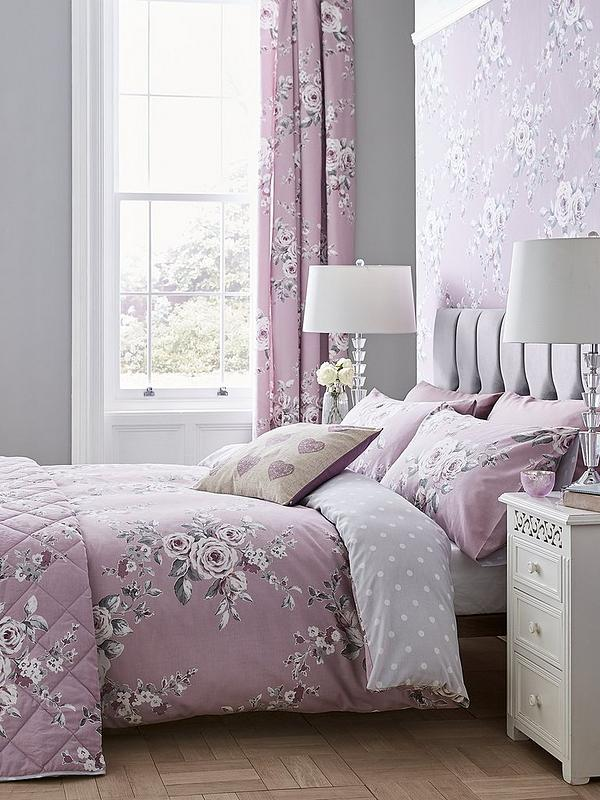 DUVET COVER SET DOUBLE KING CATHERINE LANSFIELD CANTERBURY FLORAL WALLPAPER