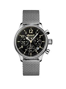 ingersoll-ingersoll-discovery-the-apsley-black-quartz-chronograph-dial-stainless-steel-milanese-mesh-strap-mens-watch