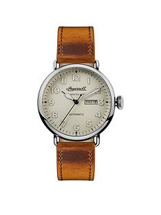 ingersoll-chronicle-the-trenton-cream-day-date-dial-brown-horween-leather-strap-mens-watch