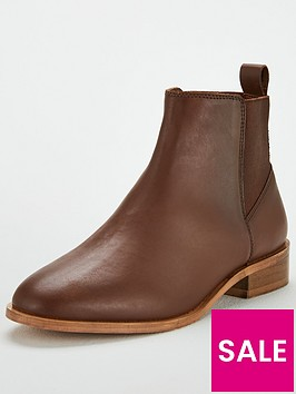 v-by-very-fray-leather-flat-chelsea-boot-tan