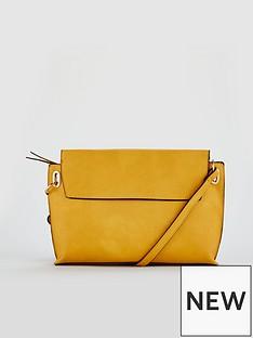 warehouse-slip-pocket-buff-grainy-crossbody-yellow