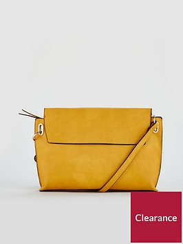 warehouse-slip-pocket-buff-grainy-crossbody-yellow