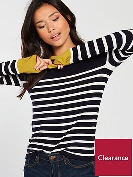 warehouse-breton-block-stripe-jumper-navywhite