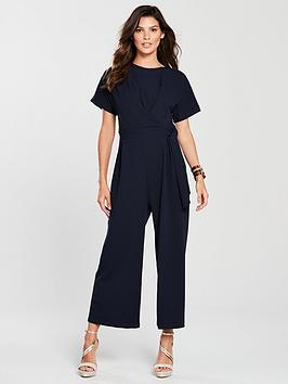 warehouse-tie-front-jumpsuit-navynbsp
