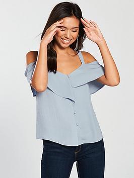 warehouse-washed-linen-cold-shoulder-top
