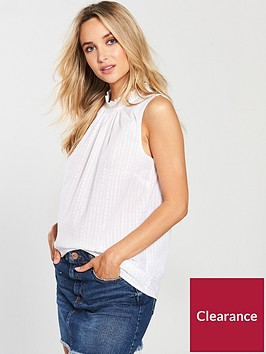 warehouse-high-neck-broderie-sleeveless-blouse-ivory