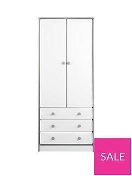 peyton-2-door-3-drawer-kids-wardrobe-whitegrey