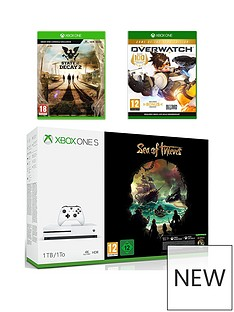 xbox-one-s-xbox-one-s-1tb-console-and-sea-of-thieves-bundle-state-of-decay-2-and-overwatch-plus-optional-controller-and-or-12-months-live