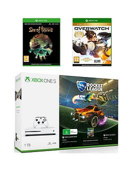 Photo of Xbox one s 1tb xbox one s 1tb console rocket league bundle- sea of thieves- overwatch and 12 months live