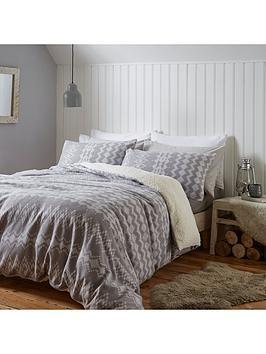 catherine-lansfield-alpine-fleece-duvet-cover-set