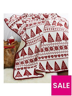 catherine-lansfield-nordic-tree-christmasnbspthrow-red