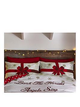 catherine-lansfield-merry-christmas-pressies-pillowcase-pair