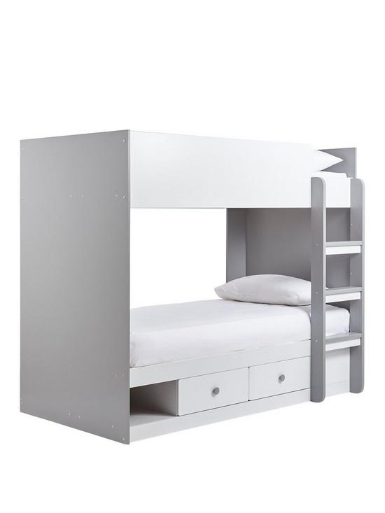 Peyton Storage Bunk Bed With Mattress Options Buy And Save