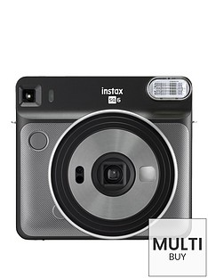 fujifilm-instax-instax-square-sq6-instant-camera-with-optional-10-or-30-pack-of-paper-graphite-grey