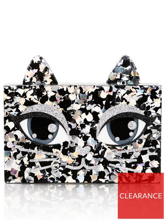 aaaca816e541 KARL LAGERFELD Choupette Glitter Minaudiere Clutch Bag - Multi ...