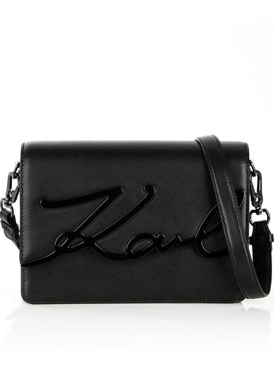 Karl Lagerfeld Ksignature Shoulder Bag Black Verycouk