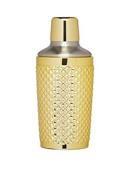 kitchencraft-barcraft-300-ml-studded-cocktail-shaker-with-gold-finish