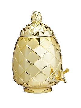 kitchencraft-barcraft-6-litre-pineapple-shaped-glass-drinks-dispenser