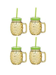 kitchen-craft-barcraft-set-of-4-glass-pineapple-drinks