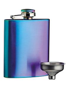 kitchencraft-barcraft-100-ml-rainbow-finish-hip-flask