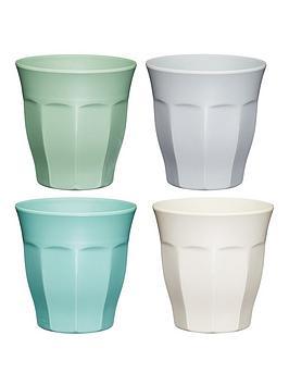 kitchencraft-colourworks-classic-ndash-set-of-4-melamine-tumblers